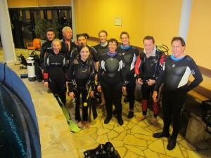 Die Gruppe bei Dive4Live